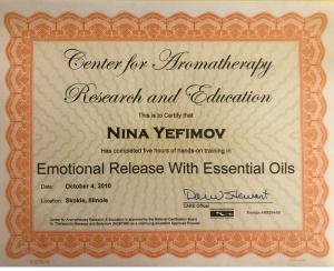 Aromatherapy Emotional Releases Essential oils Illinois Chicago Nina-Bastet