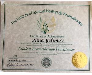 Certified Aromatherapy Practitioner Illinois Chicago Nina-Bastet